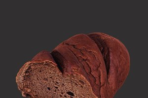 Brown Loaf of Bread Cut