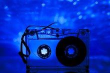 Transparent Cassette tape disco ligh