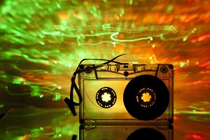 Transparent Cassette tape disco ligh