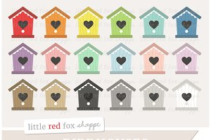 Heart Birdhouse Clipart