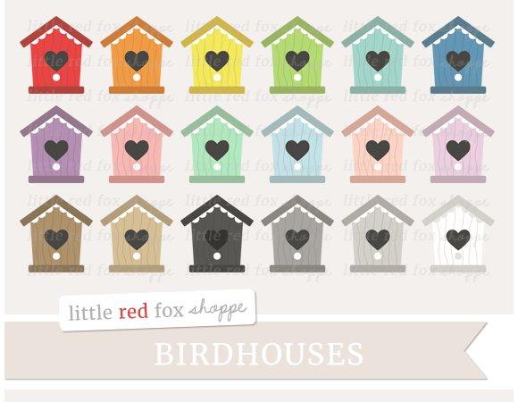 Heart Birdhouse Clipart