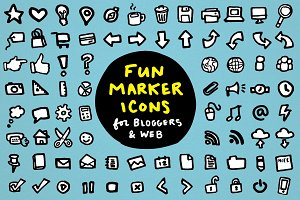Fun Marker Icons for Blogs &Web