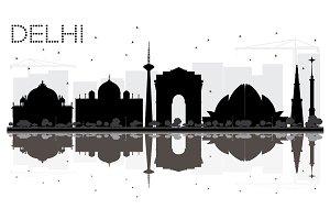 Delhi City skyline
