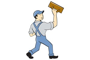 Plasterer Masonry Trowel Cartoon