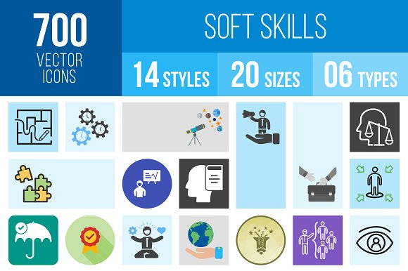 700 Soft Skills Icons