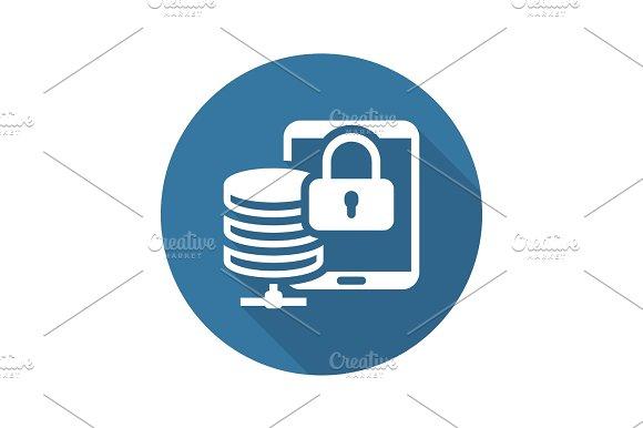 Mobile Secure Storage Icon. Flat Design.