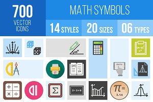 700 Math Symbols Icons