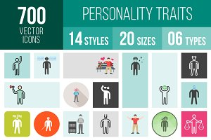 700 Personality Traits Icons