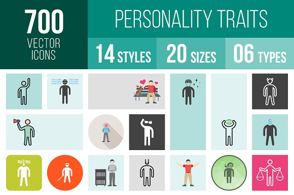 700 Personality Traits Icons ~ Icons ~ Creative Market