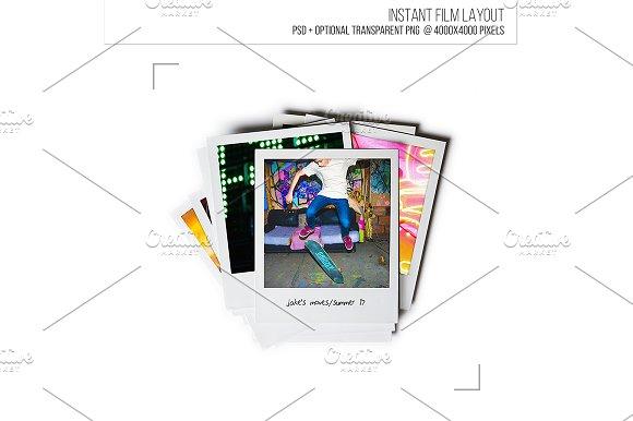 Polaroid Film Frame Layout