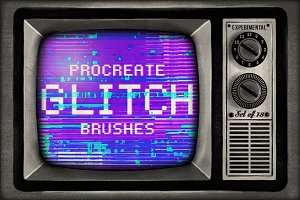 Procreate Glitch brushes - set of 18