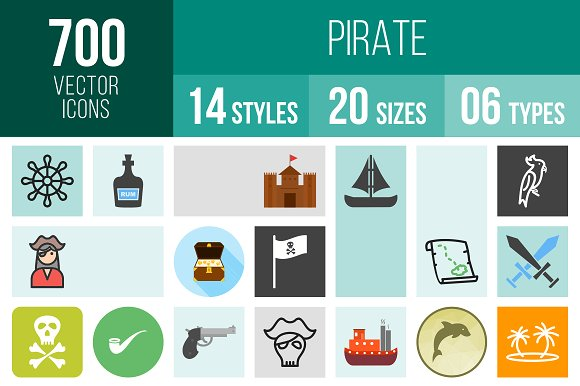 700 Pirate Icons