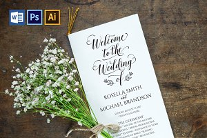 Wedding Program WPC178
