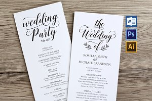 Wedding Program WPC180