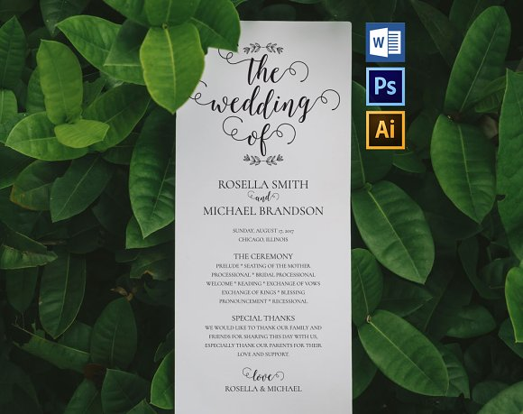 Wedding Program WPC182