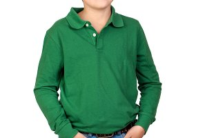 Beautiful child wit green t-shirt