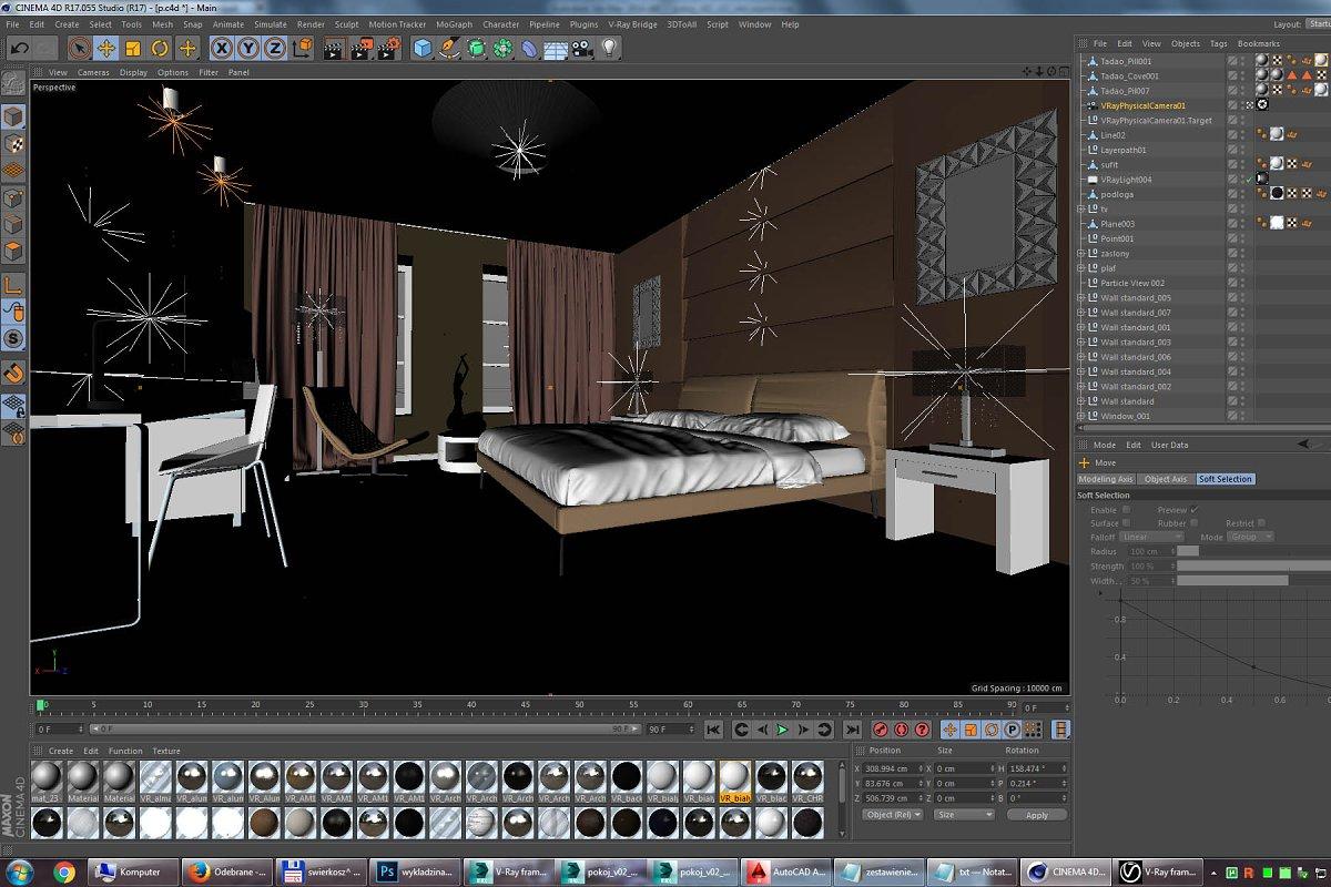 Hotel Room interior design for C4D