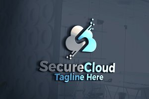 Secure Cloud Data | Logo Template
