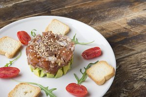Tartar of tuna and avocado