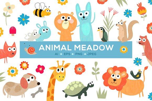 Cute Animal Meadow
