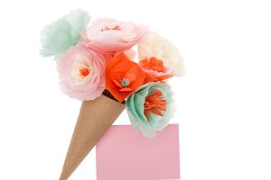 decorative handmade flowers