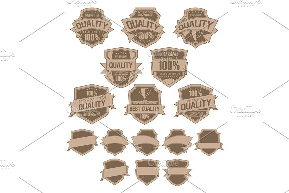 Set Of Best Quality Labels