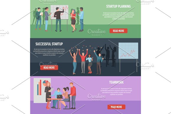 Successful Startup Internet Page Illustration