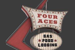Four Aces Movie Set Sign