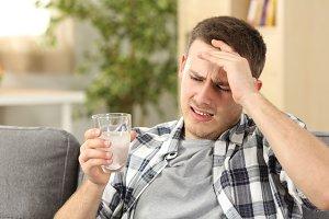 Man suffering head ache