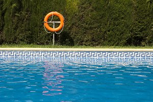 Buoy and swimming pool