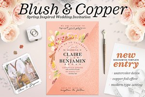 Blush Copper Wedding Invite II