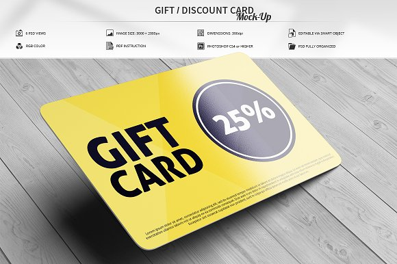 Gift Discount Card Mock-Up