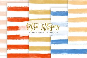 peach orange paper stripes