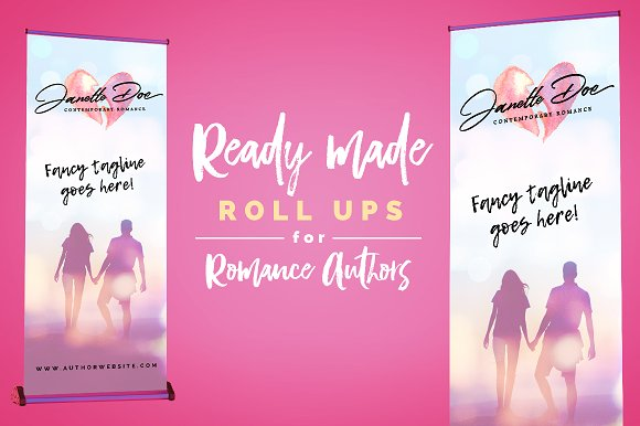Roll Up Banner For Romance Authors