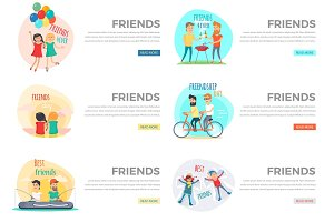 Best Friends Day Forever Web Collection on White