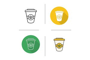 Takeaway tea cup icon