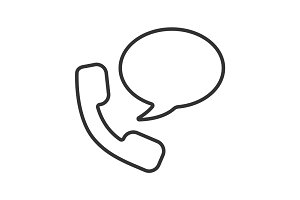 Phone talk linear icon