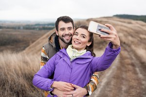 Couple taking selfie
