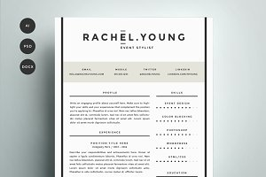 Resume template 4 pack cv template resume templates creative resume template 4 pack cv template yelopaper Image collections