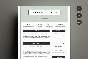 Resume Template 4 Pack | CV Template