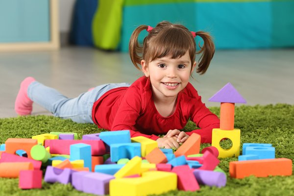 Toddler girl posing