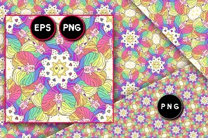♥ vector cute seamless pattern