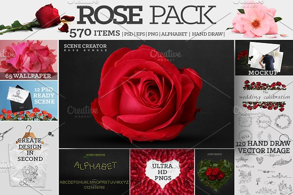 Rose Pack 570 Ultra HD Elements