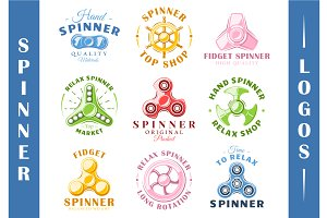 9 Spinner Logos Templates Vol.1