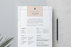 3 page Resume Template / Rhian