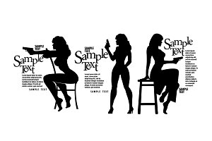 Silhouettes Girls with a gun