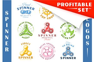 18 Colored Spinner Logos Templates