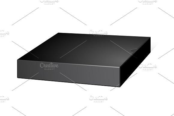 Black Package Slim Cardboard Box