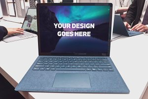 Microsoft Surface Laptop Mock-up#18