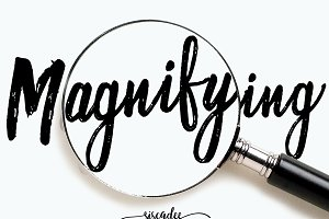 Magnifying Duo Handwritten Font